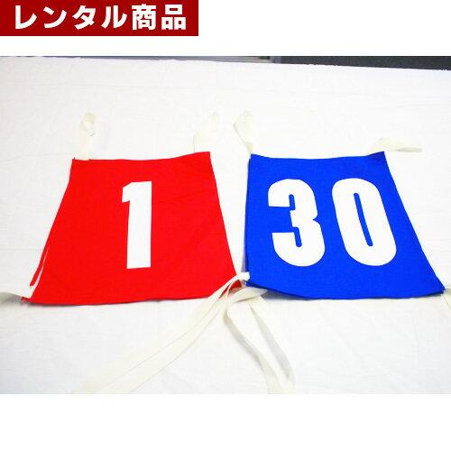 【レンタル】 カラーゼッケン ナンバー入り1〜30 1枚当たり