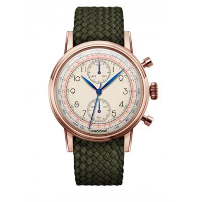 UNDONE アンダーン URBAN Killy メカクォーツ 腕時計 【ローズゴールド パーロンベルト オリーブグリーン】
