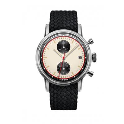 UNDONE URBAN NEWMANメカクォーツ 腕時計 【 ステンレス パーロンベルト ブラック】