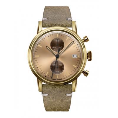 8f3846043b UNDONE URBAN CLASSIC Gold sunray 腕時計 メカクォーツ 【ゴールドケース カーフレザーベルト ヴィンテージグリーン