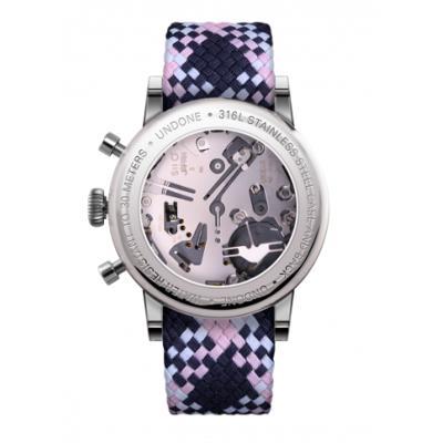 UNDONE URBAN CLASSIC Grey sunray 腕時計 メカクォーツ 【ステンレスケース パーロンベルト ピンクネイビーホワイト】