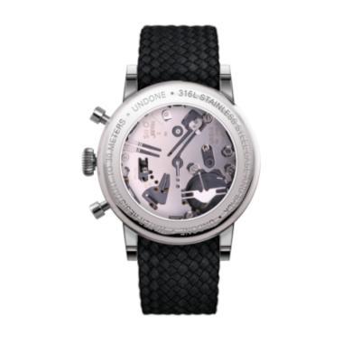 UNDONE アンダーン URBAN 腕時計 【ベース Killy キリー シルバーフレーム メカクォーツ パーロン ブラック】