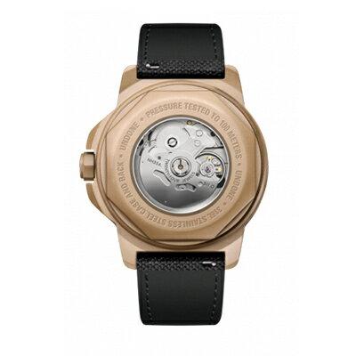 UNDONE AQUA CERAKOTE 腕時計【自動巻機械式 セラコーテ サンドケース K1強化鉱物ガラス オレンジ ラバーベルト ホワイト】