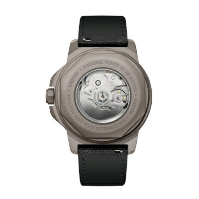 UNDONE AQUA CERAKOTE 腕時計【自動巻機械式 セラコーテ グレーケース セラミック ブラック ラバーベルト ブラック】