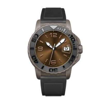 UNDONE AQUA CERAKOTE 腕時計【自動巻機械式 セラコーテ グレーケース セラミック ブラック ラバーベルト】