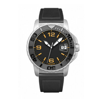 UNDONE AQUA CERAKOTE 腕時計【自動巻機械式 セラコーテ ホワイトケース セラミックブラック ラバーベルト】