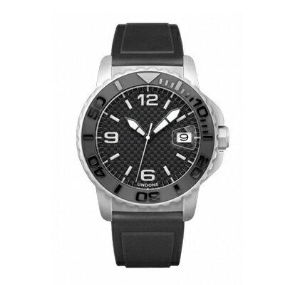 UNDONE AQUA CERAKOTE 腕時計【自動巻機械式 セラコーテ ホワイトケース セラミック ブラック ラバーバンド】