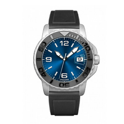 UNDONE AQUA CERAKOTE 腕時計【自動巻機械式 セラコーテ ホワイト セラミック ブラック ラバーベルト】
