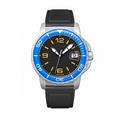UNDONE AQUA CERAKOTE 腕時計【自動巻機械式 セラコーテ ホワイト K1強化鉱物ガラス ブルー ラバーベルト】