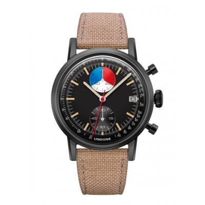 UNDONE URBAN Skipper メカクォーツ 腕時計 【 ブラック PVDコーティング コーデュラベルト  サンド】