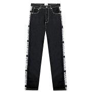 CHRISTOPHERSHANNON(クリストファーシャノン)SHANNONBLACKTAPEJEAN(BLACK)[デニムパンツ/ロゴ/UNISEX][ブラック]