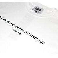 CHRISTOPHERSHANNON(クリストファーシャノン)MYWORLDISEMPTYTSHIRT(WHITE)[Tシャツ/カットソー/グラフィック/ロゴ/UNISEX][ホワイト]