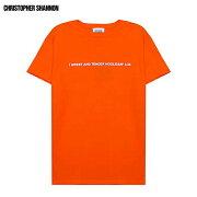 CHRISTOPHERSHANNON(クリストファーシャノン)EMBROIDEREDCSTSHIRT(ORANGE)[Tシャツ/カットソー/グラフィック/ロゴ/UNISEX][オレンジ]