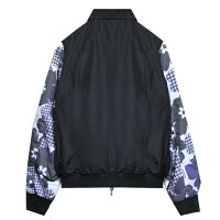 CHRISTOPHERSHANNON(クリストファーシャノン)FLORALPRINTSLEEVEBOMBER(BLACK)[ボンバー/ジャケット/フローラル/UNISEX][ブラック]
