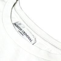 FASHIONCRIMINAL(ファッションクリミナル)FORESTGREENTEE(WHITE/GREEN)[Tシャツ/カットソー/オーバーサイズ/プリント/ロゴ/UNISEX][ホワイト/グリーン]