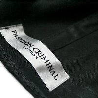 FASHIONCRIMINAL(ファッションクリミナル)BLACK&WHITEVICTORYCAP(BLACK/WHITE)[6パネルキャップ/ベースボール/ロゴ/UNISEX][ブラック/ホワイト]