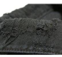 NSFCLOTHING(エヌエスエフ)ADAMDENIMJACKET(BLACK)[ダメージ/ウォッシュ/デニムジャケット/スウェット/MENS][ブラック]