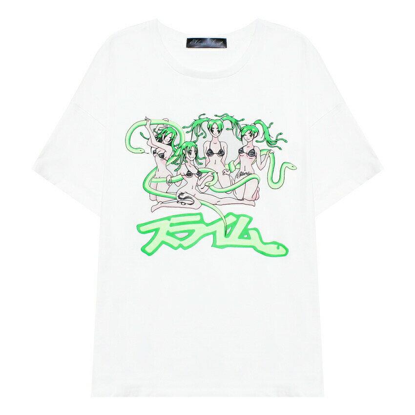 トップス, Tシャツ・カットソー SPIRIT BY SIBERIA HILLS ( ) SLIMES PG ANIME TEE (WHITE) T