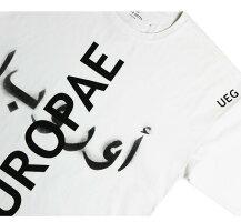 UEG(ウーサーエジェッタ)OVERSIZEDTEEEUROPAEUROPAE(WHITE)[Tシャツ/カットソー/オーバーサイズ/UNISEX][ホワイト]