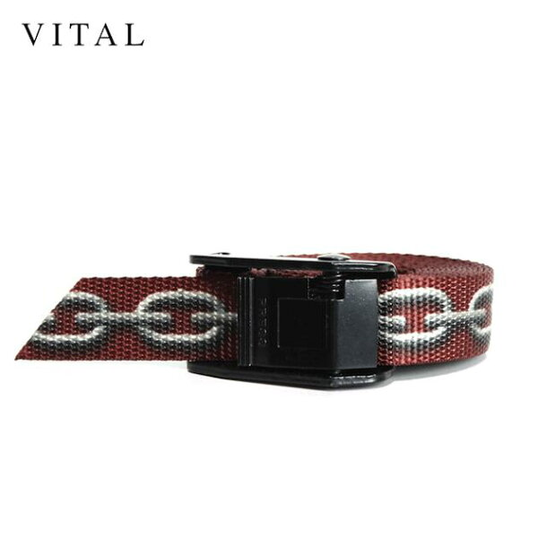 VITAL(ヴァイタル)CHAIN-LINKBELT(BLACK/BURGUNDY) ロングベルトバックルメンズユニセックス