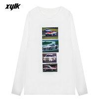 XYLK(シルク)SKYLINER32GTRLONGSLEEVET-SHIRT(WHITE)[Tシャツ/カットソー/グラフィック/長袖/UNISEX][ホワイト]