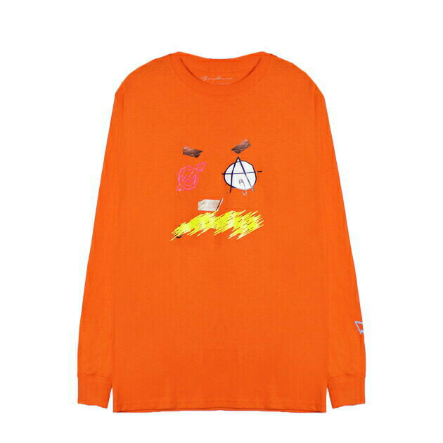 BRIU HOMME (ブリウ オム) DEFINITION LONGSLEEVE (ORANGE) [ロングスリーブ/カットソー/Tシャツ/UNISEX] [オレンジ]