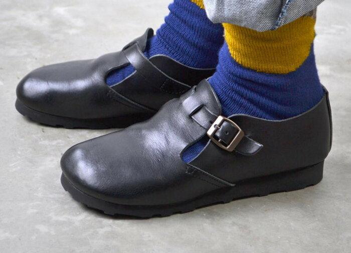 GROW NATURALLY グロウナチュラリー 予約アイテム レザーストラップスリッポン 送料無料 全4色 シューズ 靴 レザー 小さいサイズ 大きいサイズ ブラック キャメル