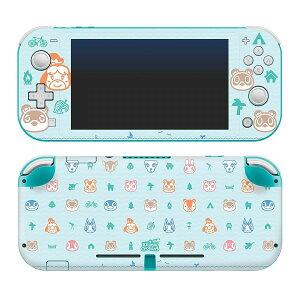 Nintendo Switch Lite ニンテンドースイッチライト専用 スキンシール Animal Crossing どうぶつの森 キャラクター しずえ つぶきち まめきち たぬきち