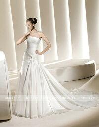 ウェディングドレス サイズオーダー無料 オーダードレス ウエディング Aライン WEDDING DRESS 結婚式 披露宴 演奏会 二次会 花嫁 WS2212