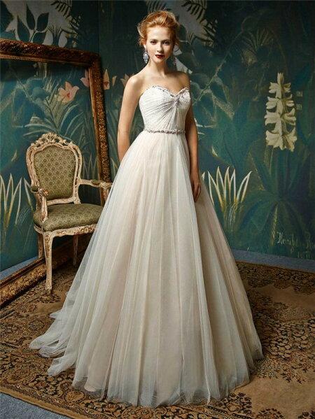 03c24a9800c6a ウェディングドレス Aライン オーダーメイド エレガント wedding dress ...