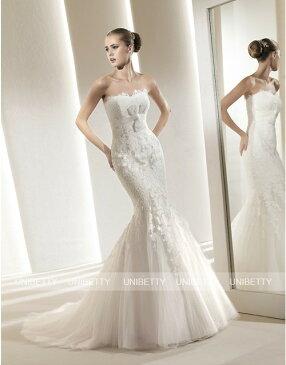 ウェディングドレス サイズオーダー無料 オーダードレス ウエディング マーメイドライン WEDDING DRESS 結婚式 披露宴 演奏会 二次会 花嫁 WS2220