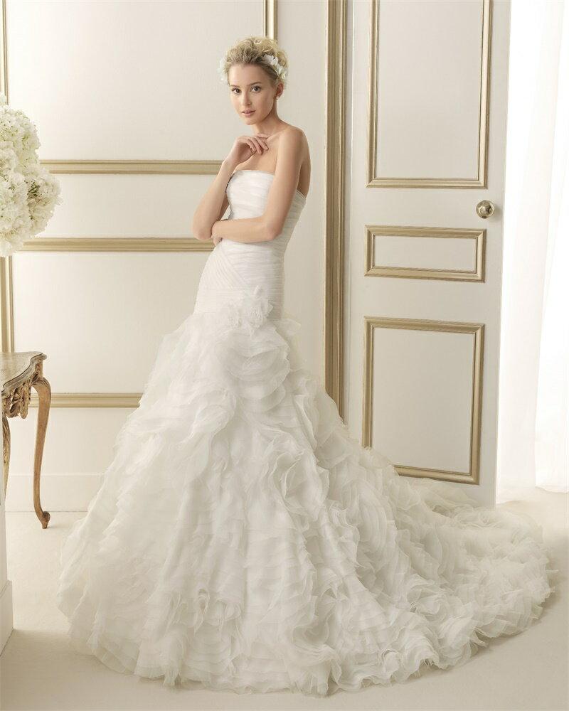 ウェディングドレス サイズオーダー  マーメイドライン 結婚式 二次会 披露宴 ws2627