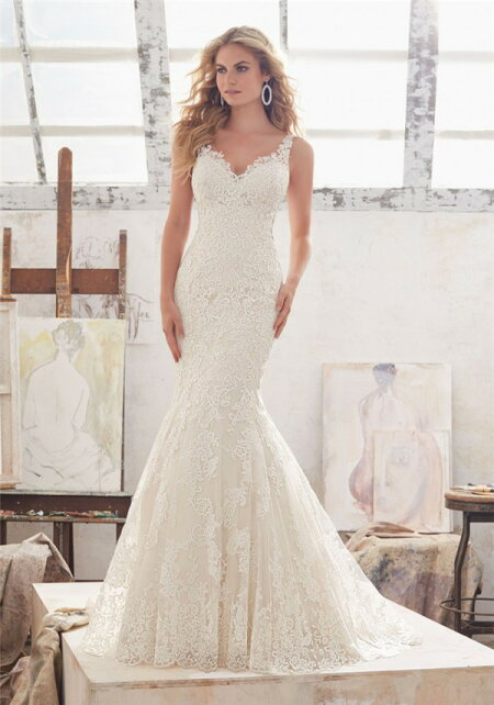 6caf147168f0b ウェディングドレス マーメイドライン オーダーメイド wedding レース ...