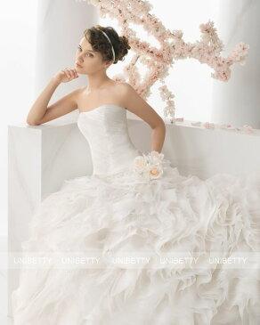 ウェディングドレス サイズオーダー 送料無料 プリンセスライン 結婚式 二次会 披露宴 ws2681
