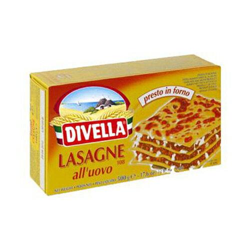 ラザニア ディヴェッラ 卵入りパスタ ラザーニェ容量:500g イタリア産 デュラム小麦のセモリナパスタ Lasagne all'uovo/Divella画像