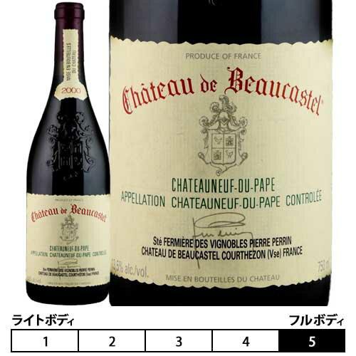 ワイン, 赤ワイン  2000 750ml Chateau de BeaucastelChateauneuf-du-Pap e Rouge