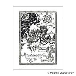 MOOMIN(ムーミン) モノクロミニポスター ムーミン谷 PTK040057