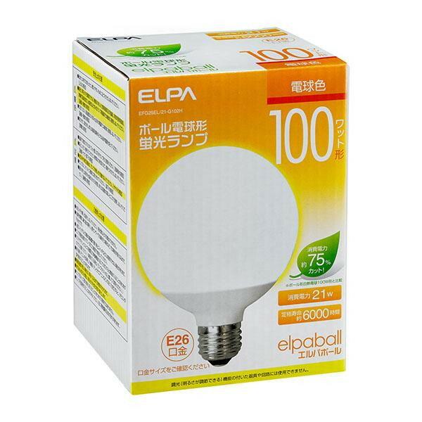 電球, その他 ELPA() 100W EFG25EL21-G102H