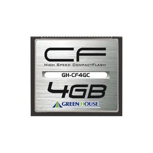 グリーンハウス コンパクトフラッシュ 133倍速 4GB GH-CF4GC 1枚