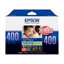 (まとめ) エプソン EPSON 写真用紙ライト[薄手光沢] L判 KL400SLU 1冊(400枚) 【×10セット】