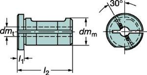 【サンドビック】サンドビック丸シャンクバイト用イージーフィックススリーブ132W2506B[サンドビックホルダー切削工具旋削・フライス加工工具ホルダー]【TN】【TC】