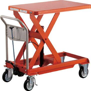 【取寄】【TRUSCO】TRUSCO ハンドリフター 500kg 600X900 オレンジ HLFS500[TRUSCO HAリフター       物流保管用品リフター・ハンドパレット移動式リフター]【TN】【TC】