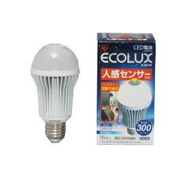 人感センサー付きLED電球です。アイリスオーヤマ LED電球 エコルクス 人感センサー付6W 昼白...