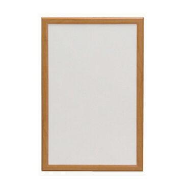 ウッドホワイトボード NWM-34 幅30×高さ45cm 送料無料 アイリスオーヤマ 白板 無地 マグネット対応 磁石 壁掛け 家庭用 ミニサイズ 子供 木枠 ウッド 木目 黒マーカー付き 300×450 30×45