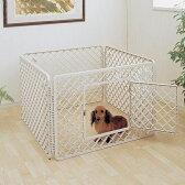 【送料無料】【ペットサークル】ペットサークル H-64E ベージュ【アイリスオーヤマ ゲージ サークル 室内犬 キャリー 室内ハウス ハウスケージ 犬の家 犬のおうち ペットサークル 小型 中型 室内犬 小型犬用 屋内 室内】
