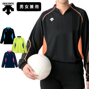 デサント バレーボール 練習着 長袖 シャツ 男女兼用 メンズ レディース DSS-4410