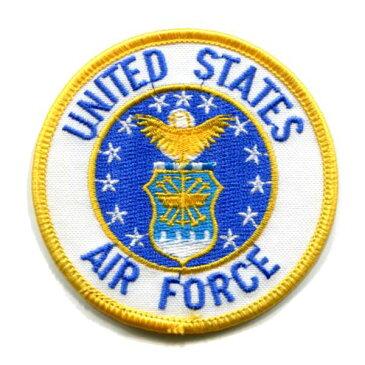 輸入ワッペン〔57-UNITED STATES AIR FORCE〕【DM便選択可】【アイロン接着】【楽ギフ_包装】