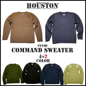 『HOUSTON/ヒューストン』2160COMMANDSWEATER/コマンドセーター-全4色-「スウェット」「インナー」「ミリタリー」【チケット対象】[2160]