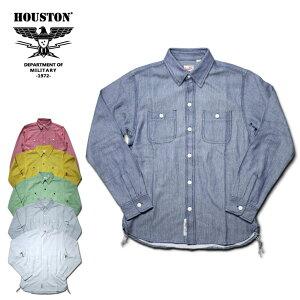 2018A/W『HOUSTON/ヒューストン』40469SOLIDVIYELLASHIRT/ソリッドビエラシャツ-全6色-/ワーク/ネルシャツ/ユニオンネットストア[40469]