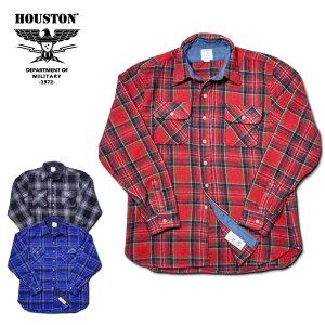 2018A/W『HOUSTON/ヒューストン』40491WOOLCHECKVIYELLASHIRT/ウールチェックビエラシャツ-全3色-/ワーク/ネルシャツ/リサイクルウール/予約/先行/[40491]